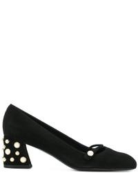 Zapatos de tacón de ante negros de Stuart Weitzman
