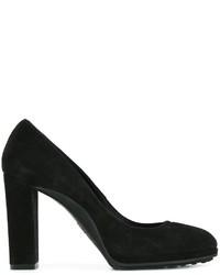 Zapatos de Tacón de Ante Negros de Tod's