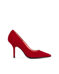Zapatos de tacón de ante rojos de Anna F.