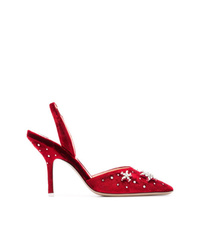 Zapatos de tacón de ante rojos de ATTICO