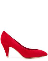 Zapatos de Tacón de Ante Rojos de Mansur Gavriel