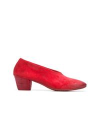 Zapatos de tacón de ante rojos de Marsèll