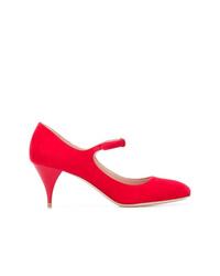 Zapatos de tacón de ante rojos de Miu Miu