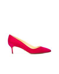 Zapatos de tacón de ante rojos de Sarah Flint