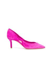 Zapatos de tacón de ante rosa de Casadei