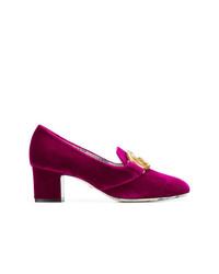 Zapatos de Tacón de Ante Rosa de Gucci