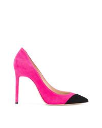 Zapatos de tacón de ante rosa de Saint Laurent