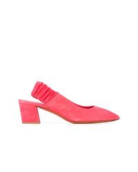 Zapatos de tacón de ante rosa de Santoni