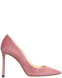Zapatos de tacón de ante rosados