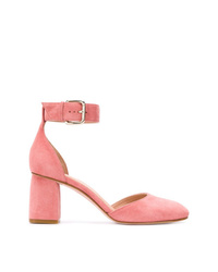 Zapatos de tacón de ante rosados de RED Valentino