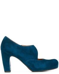Zapatos de Tacón de Ante Verde Azulado de Chie Mihara