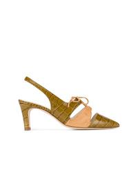 Zapatos de tacón de ante verde oliva de Trademark