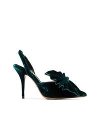 Zapatos de tacón de ante verde oscuro de Alexandre Vauthier