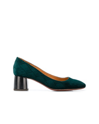 Zapatos de tacón de ante verde oscuro de Chie Mihara