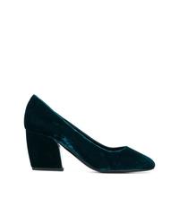Zapatos de tacón de ante verde oscuro de Pierre Hardy