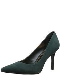 Zapatos de tacón de ante verde oscuro de Ralph Lauren