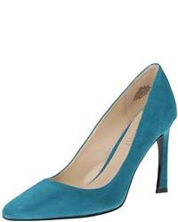 Zapatos de tacón de ante verdes de Nine West