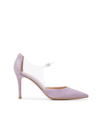 Zapatos de tacón de ante violeta claro de Gianvito Rossi
