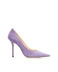 Zapatos de tacón de ante violeta claro de Jimmy Choo