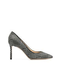 Zapatos de tacón de cuero a cuadros en negro y blanco de Jimmy Choo