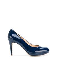 Zapatos de tacón de cuero azul marino de Högl