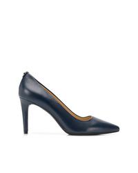 Zapatos de tacón de cuero azul marino de MICHAEL Michael Kors