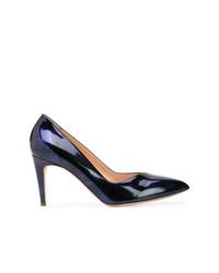 Zapatos de tacón de cuero azul marino de Rupert Sanderson