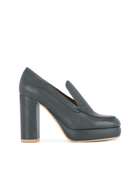 Zapatos de tacón de cuero azul marino de See by Chloe