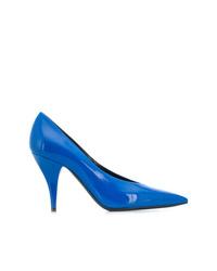 Zapatos de tacón de cuero azules de Casadei
