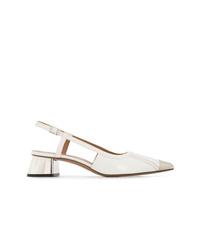 Zapatos de tacón de cuero blancos de Marni