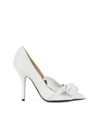 Zapatos de tacón de cuero blancos de N°21