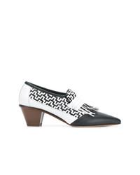 Zapatos de Tacón de Cuero Blancos de Ports 1961