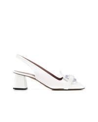 Zapatos de tacón de cuero blancos de Rayne