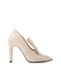 Zapatos de tacón de cuero blancos de Sergio Rossi