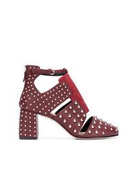 Zapatos de tacón de cuero burdeos de RED Valentino