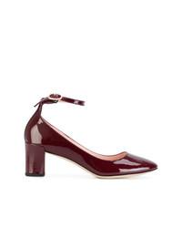 Zapatos de Tacón de Cuero Burdeos de Repetto