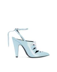 Zapatos de Tacón de Cuero Celestes de Calvin Klein 205W39nyc