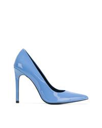 Zapatos de tacón de cuero celestes de Calvin Klein Jeans