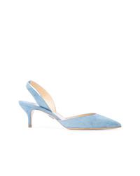 Zapatos de tacón de cuero celestes de Paul Andrew