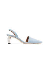 Zapatos de tacón de cuero celestes de Rejina Pyo