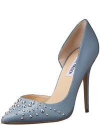 Zapatos de tacón de cuero celestes de Steve Madden