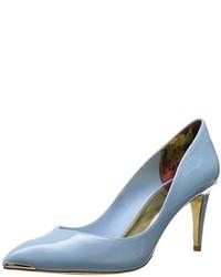 Zapatos de tacón de cuero celestes de Ted Baker