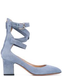 Zapatos de Tacón de Cuero Celestes de Valentino Garavani