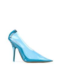 Zapatos de tacón de cuero celestes de Yeezy