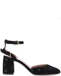 Zapatos de Tacón de Cuero con Adornos Negros de RED Valentino
