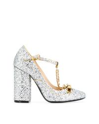 Zapatos de tacón de cuero con adornos plateados de N°21