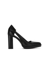 Zapatos de tacón de cuero con recorte negros de Studio Chofakian