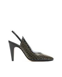 Zapatos de tacón de cuero con tachuelas negros de Givenchy