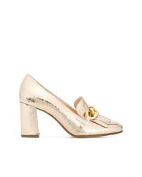 Zapatos de Tacón de Cuero Dorados de Högl