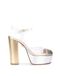 Zapatos de tacón de cuero dorados de Ritch Erani NYFC